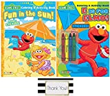Sesame Street Elmo Coloring & Activity Books, Includes Stickers and 4 Crayons