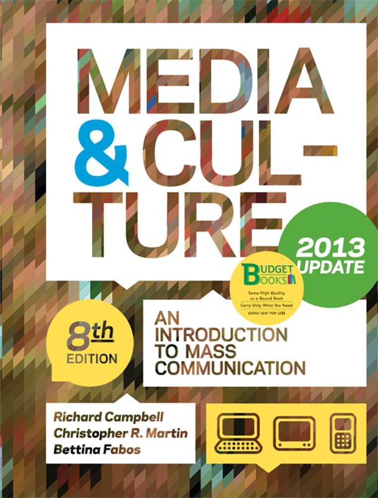 Download Media & Culture, Update: An Introduction to Mass Communication ebook