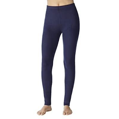 Cuddl Duds ClimateRight Women's Stretch Fleece Warm Underwear Leggings/Pants at Women's Clothing store