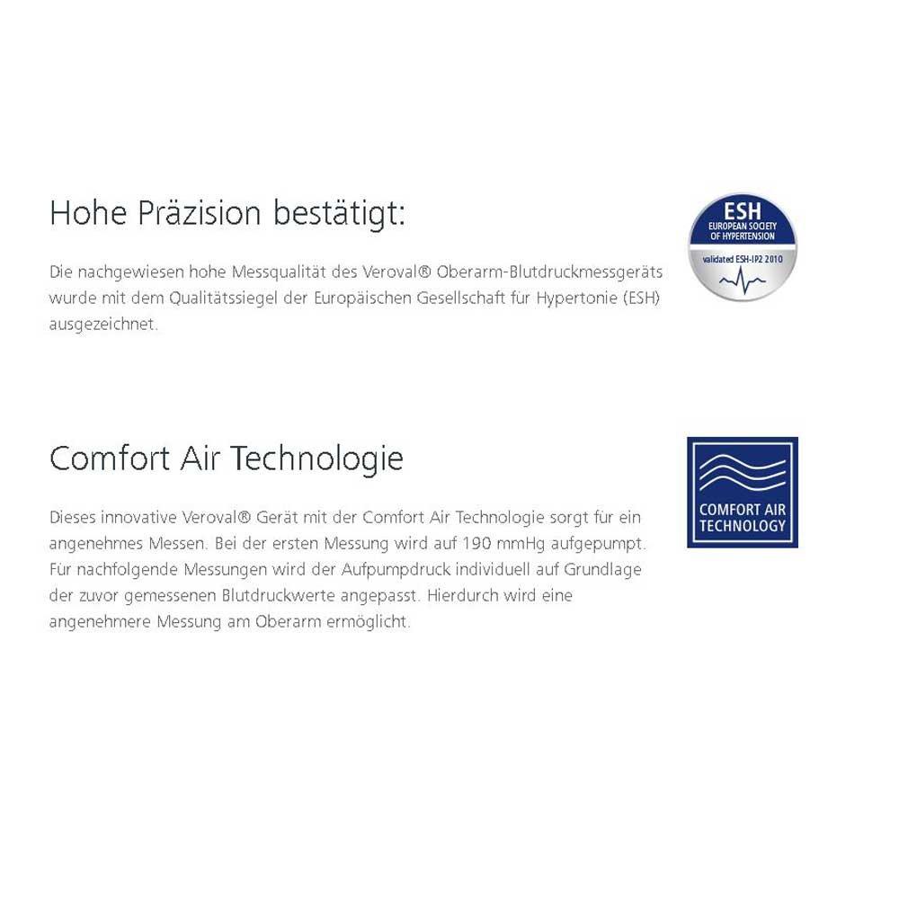 Hartmann veroval Tensiómetro de brazo, calidad sello Esh, manguito, cable USB: Amazon.es: Salud y cuidado personal
