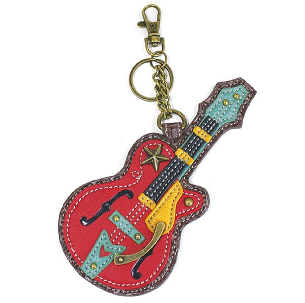 Amazon.com: Chala Rock Star Guitarra Clave Cadena cartera ...