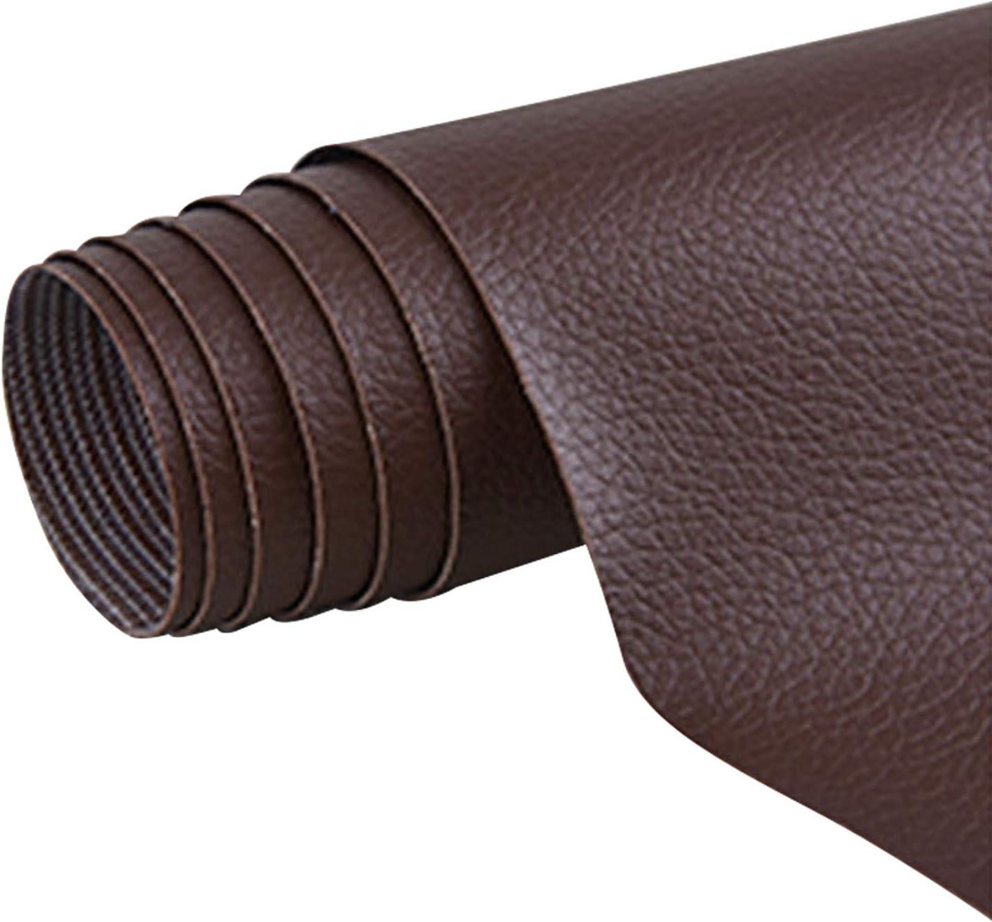 1 rollo autoadhesivo de cuero de la PU parche kit de reparación de primeros auxilios para sofá asiento de coche muebles chaquetas bolso 42 x 137cm