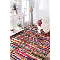 nuLOOM 200MGNM06A-305 Braided Chindi Cotton Michiko Area Rug, 3 x 5
