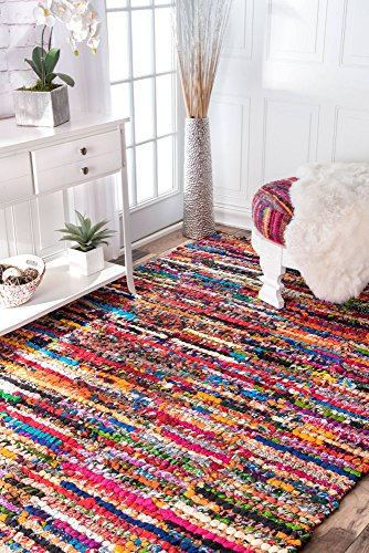 nuLOOM 200MGNM06A-305 Braided Chindi Cotton Michiko Area Rug, 3