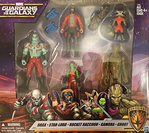 Action Figure Marvel Guardians of the Galaxy - Drax, Star-Lord, Rocket Raccoon, Gamora, Groot ()