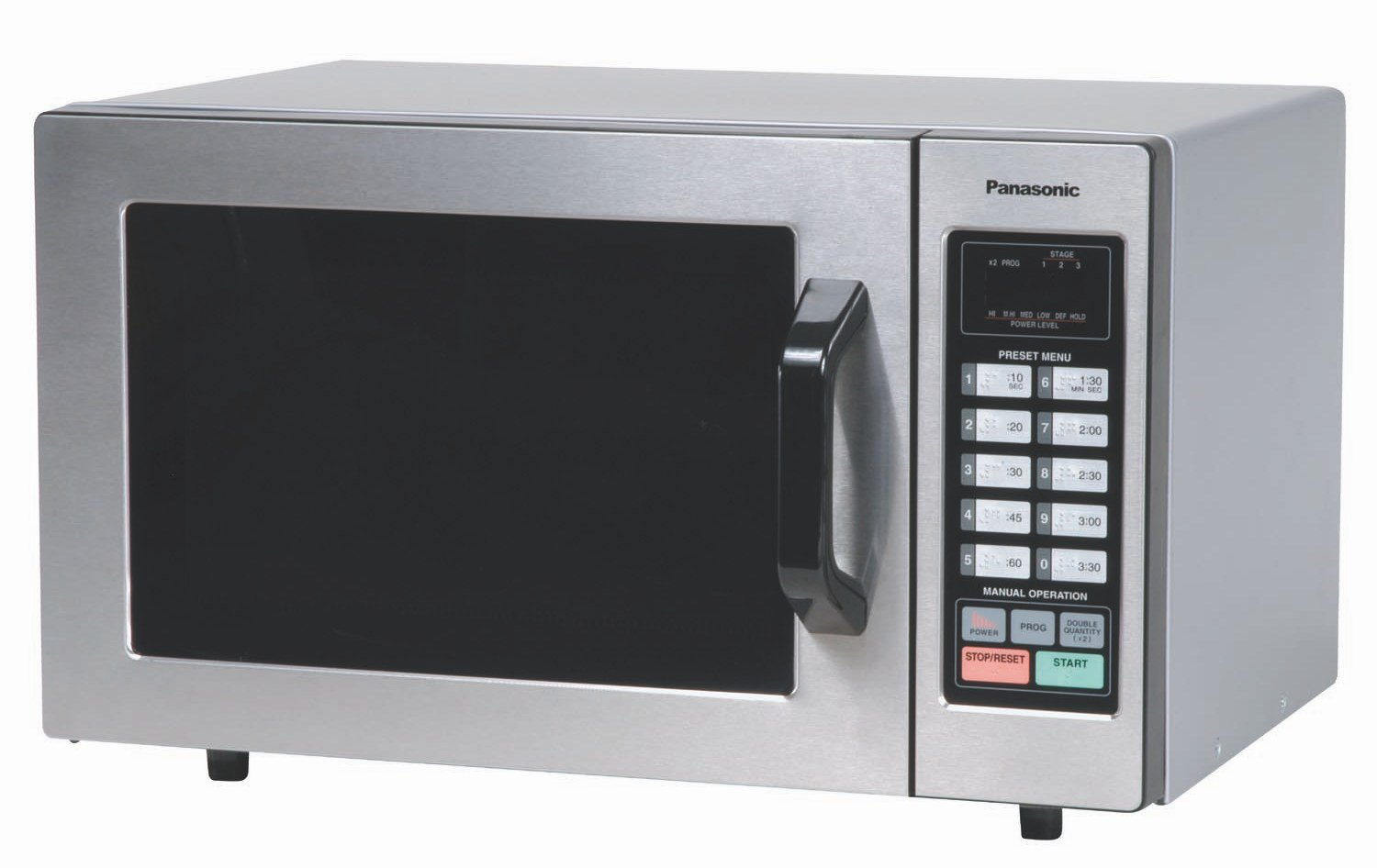 Panasonic Countertop Commercial Microwave Oven NE-1054F Stainless Steel with 10 Programmable Memory and Touch