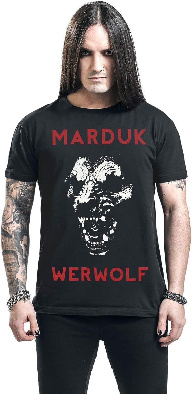 Marduk Werewolf M/änner T-Shirt schwarz Band-Merch Bands