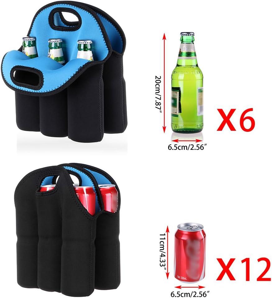 blau LJSLYJ Tragbarer Kleiner Beutel mit 10 Zellen Unterer Flaschenbeutel mit Kosmetiktasche Flaschen /ätherische /Öle Tragetasche Inhaber Aufbewahrungstasche Reisetasche