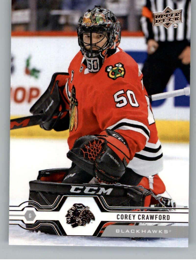 Amazon Com 2019 20 Upper Deck Series One Hockey 116 Corey Crawford Chicago Blackhawks Official Nhl Trading Card From Ud Collectibles Fine Art