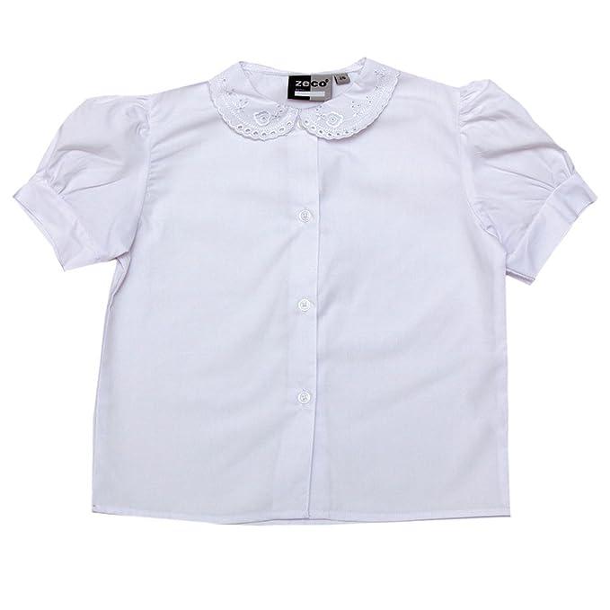 Ozmoint - Blusa - Manga corta - para niña blanco blanco 62