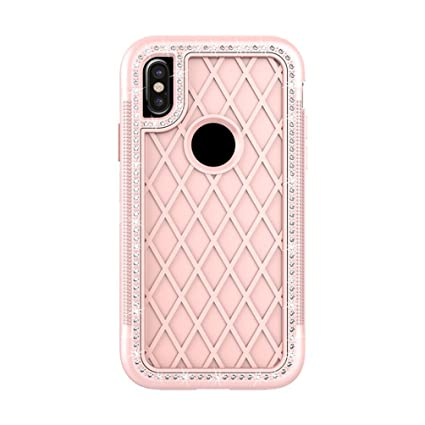d0d1057759 Amazon.com: Slim Soft TPU Shiny Rhinestone Decor Back Case Phone ...