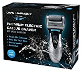 Electric Callus Remover & Rechargeable Pedicure Tools For Men by Own Harmony w/ 3 Rollers, Reg. & Extra Coarse (Tested Most Powerful) Best Foot File, Professional Spa Electronic Micro Pedi Feet Care