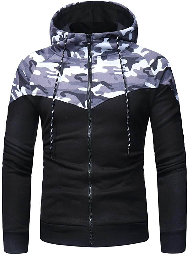 Pervobs Mens Autumn Winter Patchwork Hoodie Sweatshirt Pants Sets Suit Tracksuit