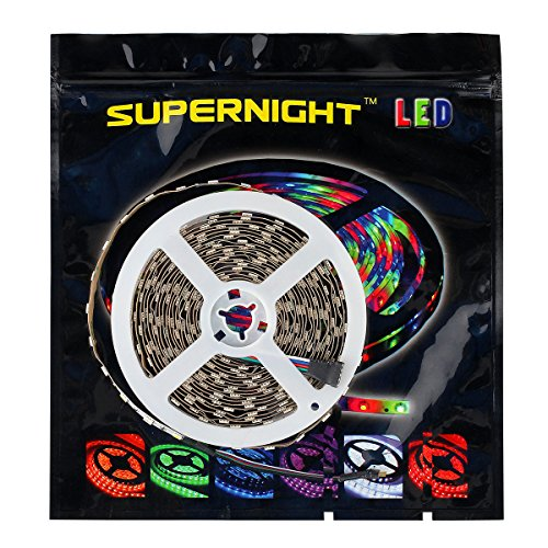 SUPERNIGHT RGB+Warm White Mixed Color Changing IP68 Waterproof LED Strip Light Flexible 5050 Underwater LED Tape Submersible LED Lights
