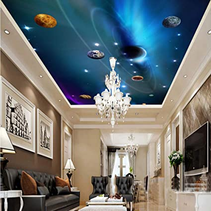 Amazon com: xbwy Custom 3D Ceiling Wallpaper Mural Space