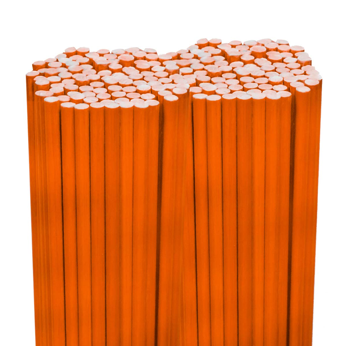 200PK 48 1/4 Diameter Hi Visibility Safety Orange Driveway Markers- Rods Stakes Guides Replaces Stake Guides