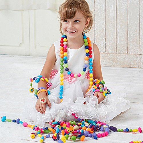 Snap Pop Beads Girls Toys - Art Crafts Gift Creative DIY Jewelry Making Kit for Necklace and Bracelet Beads Set