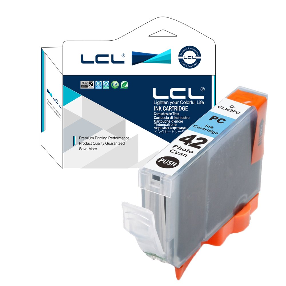 LCL Compatible Ink Cartridge Replacement for Canon CLI42 CLI-42 PC CLI-42PC Pro-100 Pro-100S (1-Pack Photo Cyan)