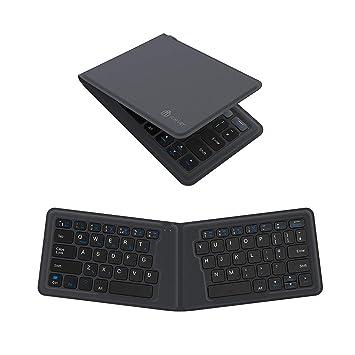 Teclado Bluetooth, Teclado iClever inalámbrico Plegable Ultra Compacto para iPhone 7/7 Plus,
