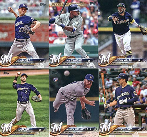 Milwaukee Brewers 2018 Topps Complete Mint Hand Collated 30 Card Team Set with Ryan Braun, Zach Davies and Josh Hader Plus