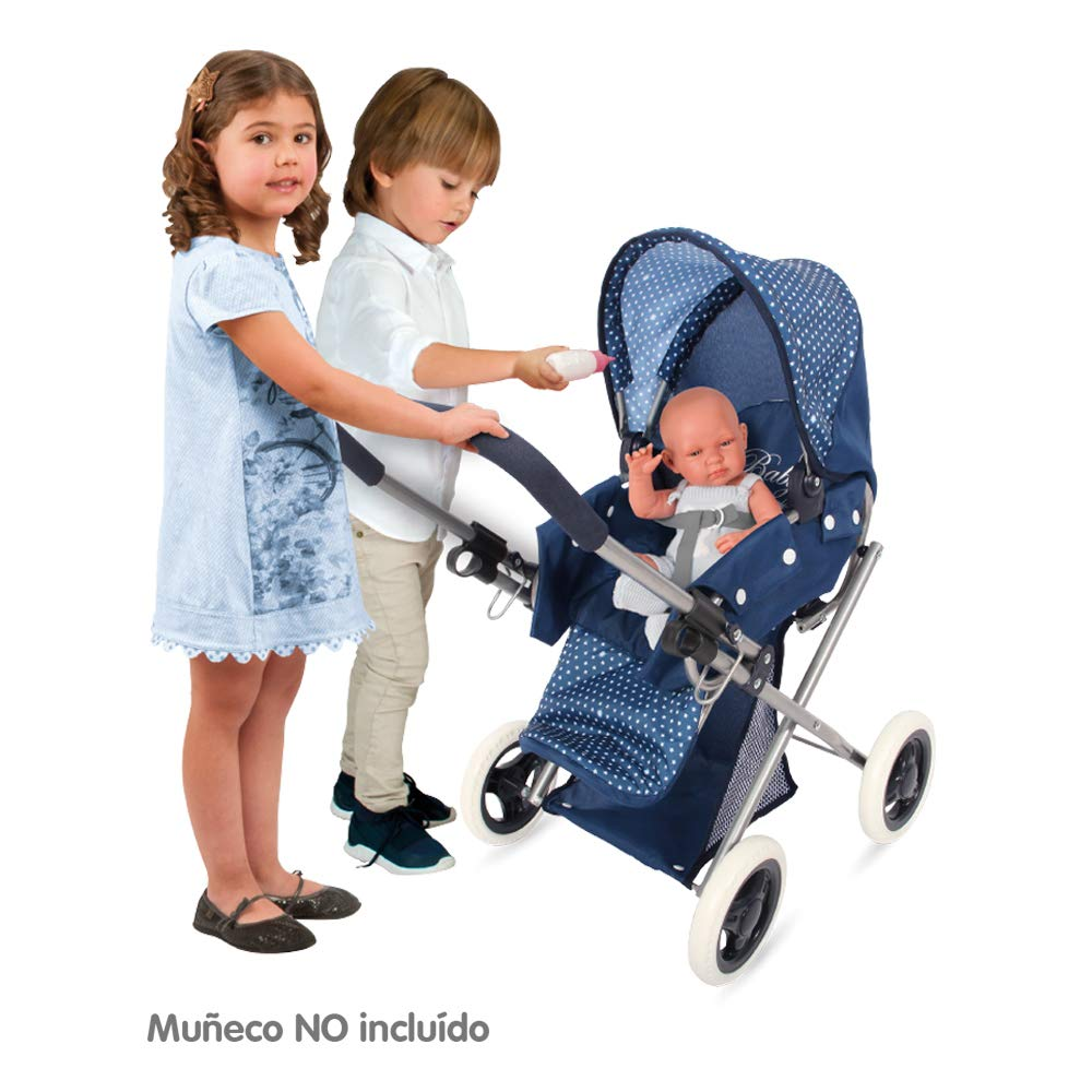 ColorBaby - Cochecito de muñecas plegable 3 en 1 Baby Style, color azul (44921): Amazon.es: Juguetes y juegos