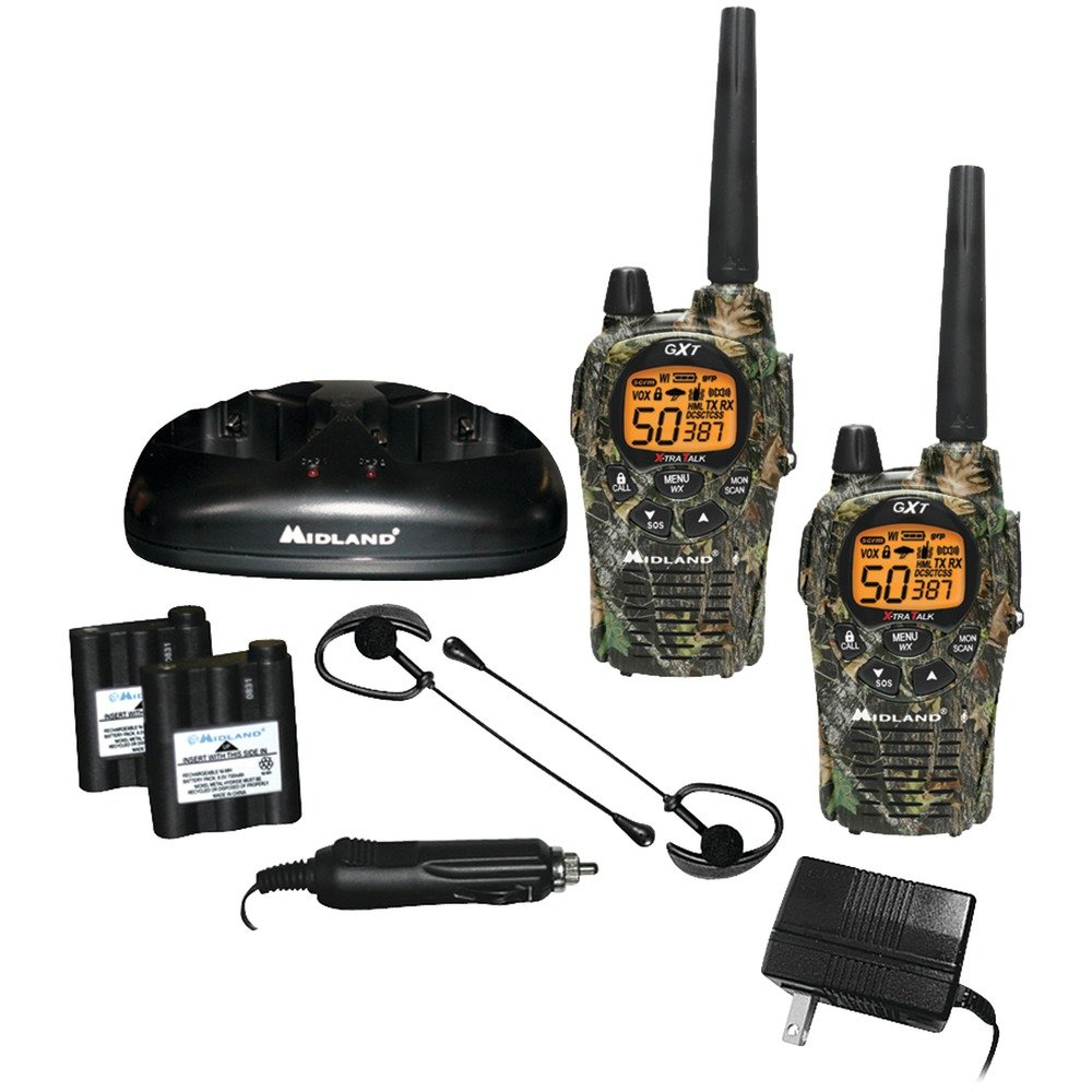 MIDLAND GXT1050VP4 36-Mile Camo GMRS Radio Pair Pack with Batteries & Drop-in Charger electronic consumer