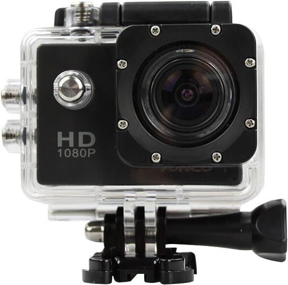 TALLA 1080P. Cámara de acción HD 1080p 12 MP Impermeable cámara Deportiva (1080P)