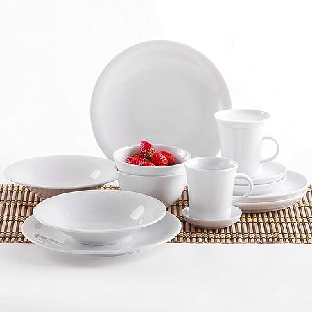 weiß Suppenteller 22cm 2.Wahl Kahla Porzellan Teller white Soup Plate