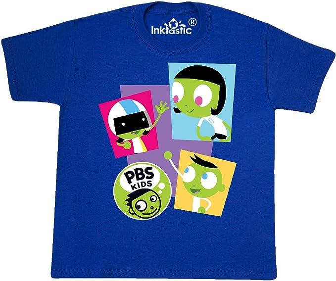 Inktastic I Love PBS KIDS Youth T-Shirt Dot Dee Del Colorful Fun Tee Children