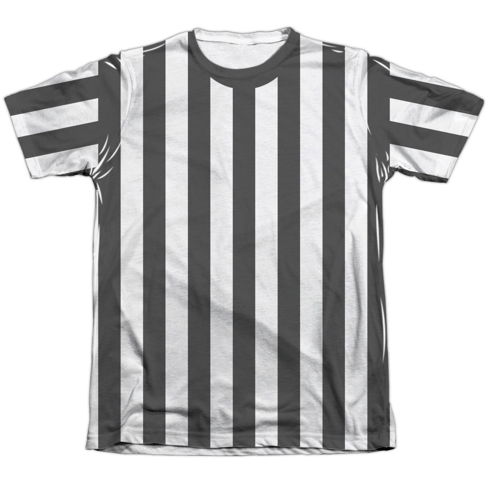 Referee Shirt Unisex Adult Front Only Poly/Cotton Sublimated T Shirt for Men and Women