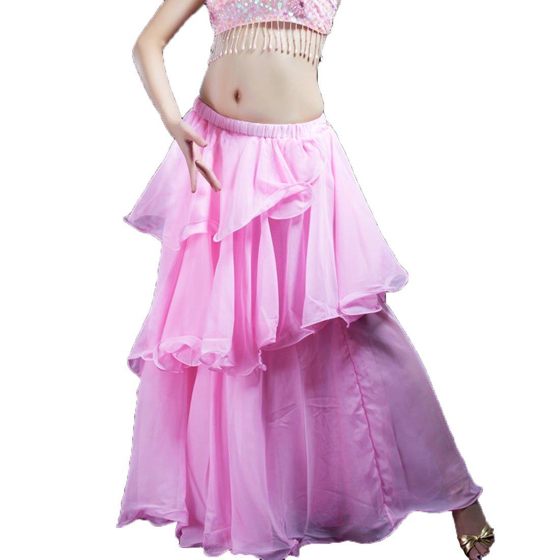Calcifer 3 capas gasa largo Swing danza del vientre falda disfraz ...