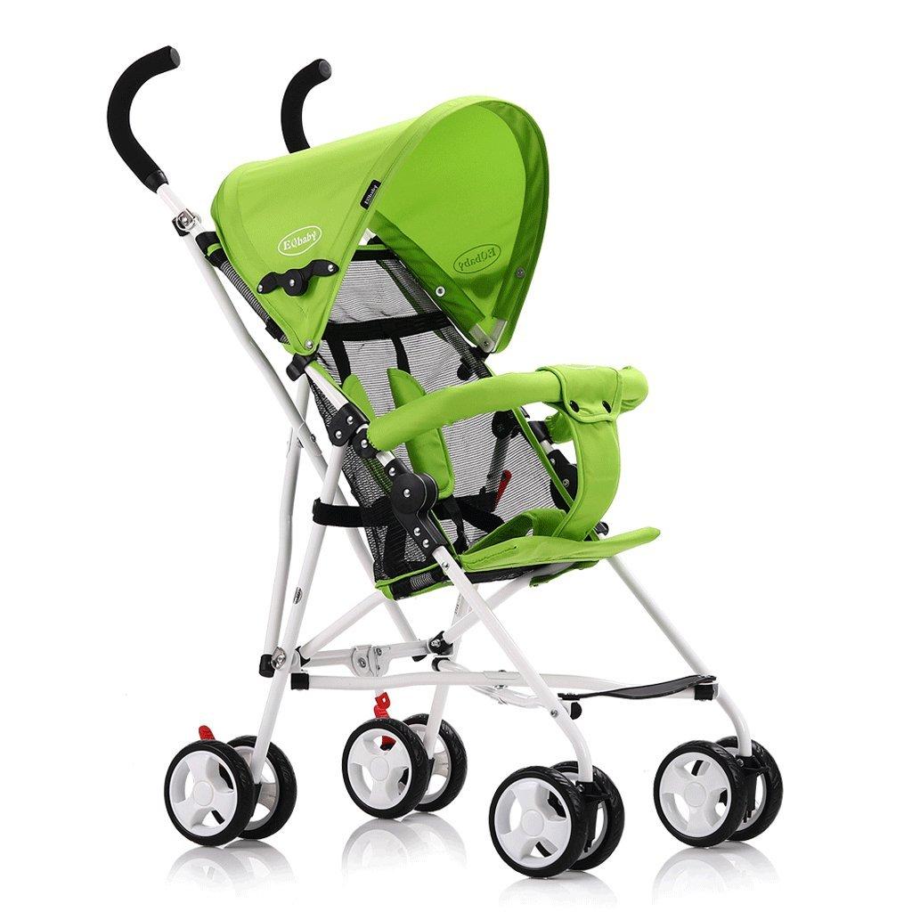ベビーカー(黄色)(緑色)60 * 94cm ( Color : Green ) B07BVKWPF2
