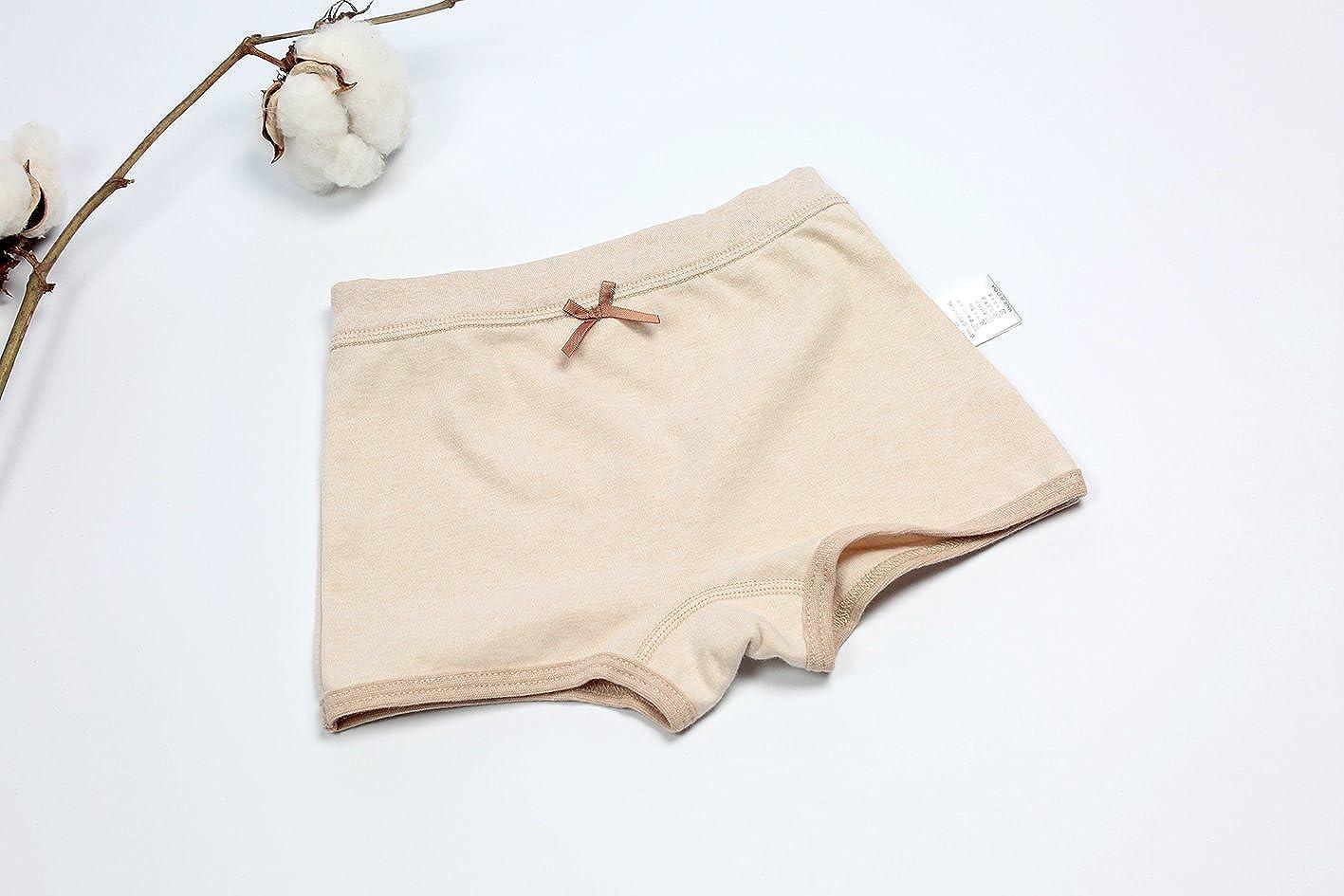 GZMM Girls Underwear Organic Cotton 3 Pack Kids Short Briefs Panties