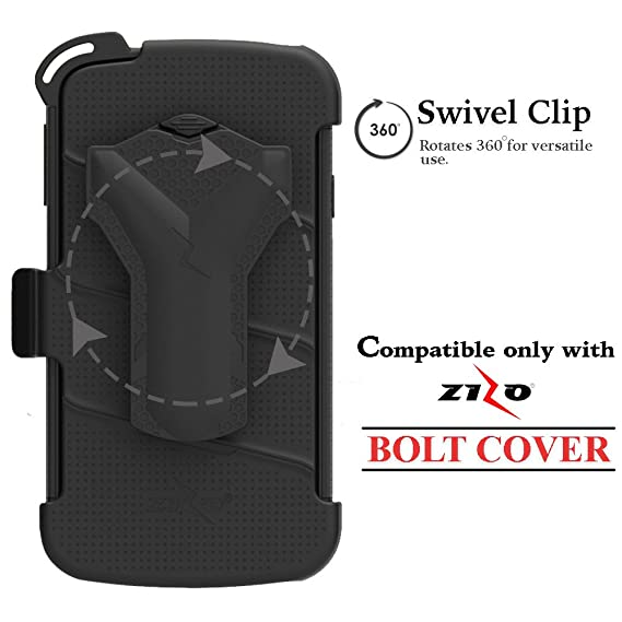best service 432a1 672e4 Zizo Belt-Clip Extra/Replacement Compatible with Samsung Galaxy S7 Edge  Case (Will not fit Without The Bolt CASE) Holster Replacement