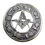 AAR Men,s Scottish Masonic Kilt Brooch Fly Plaid Antique Finish 3'' (7cm) diameter T