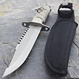 8.5'' TACTICAL STAINLESS STEEL MILITARY SURVIVAL KNIFE Bowie Hunting Fixed Blade