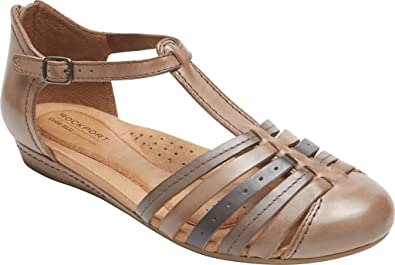 Rockport Cobb Hill Collection Womens Galway Woven Loafer Tan Leather Shoe