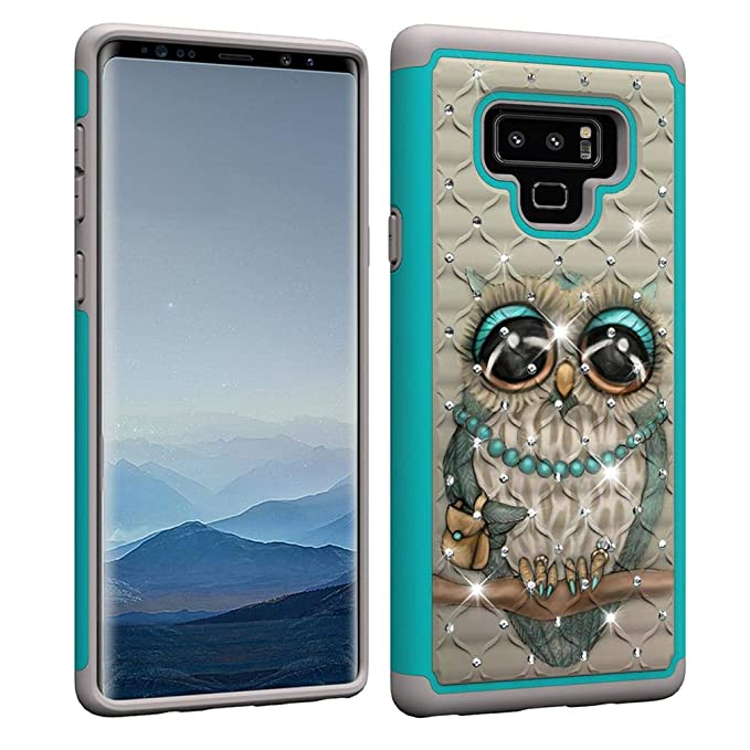 Amazon.com: Galaxy Note9 Case,Creative Design 2 in 1 Hybrid Case Hard PC Back Shell with Colorful Pattern & Point Drill Inner Soft TPU Bumper Rugged ...