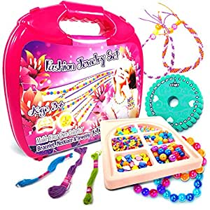 toys world shop jewelry making kit fashion studio set make your own bead necklace