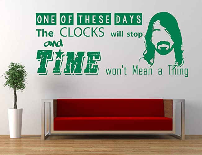 Foo Fighters Song Lyrics Quote These Days Vinyl Wall Art Sticker Mural