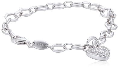 suche nach neuesten 100% authentifiziert gutes Geschäft Fossil Armband JFS00153040 Sterling Silber Silber