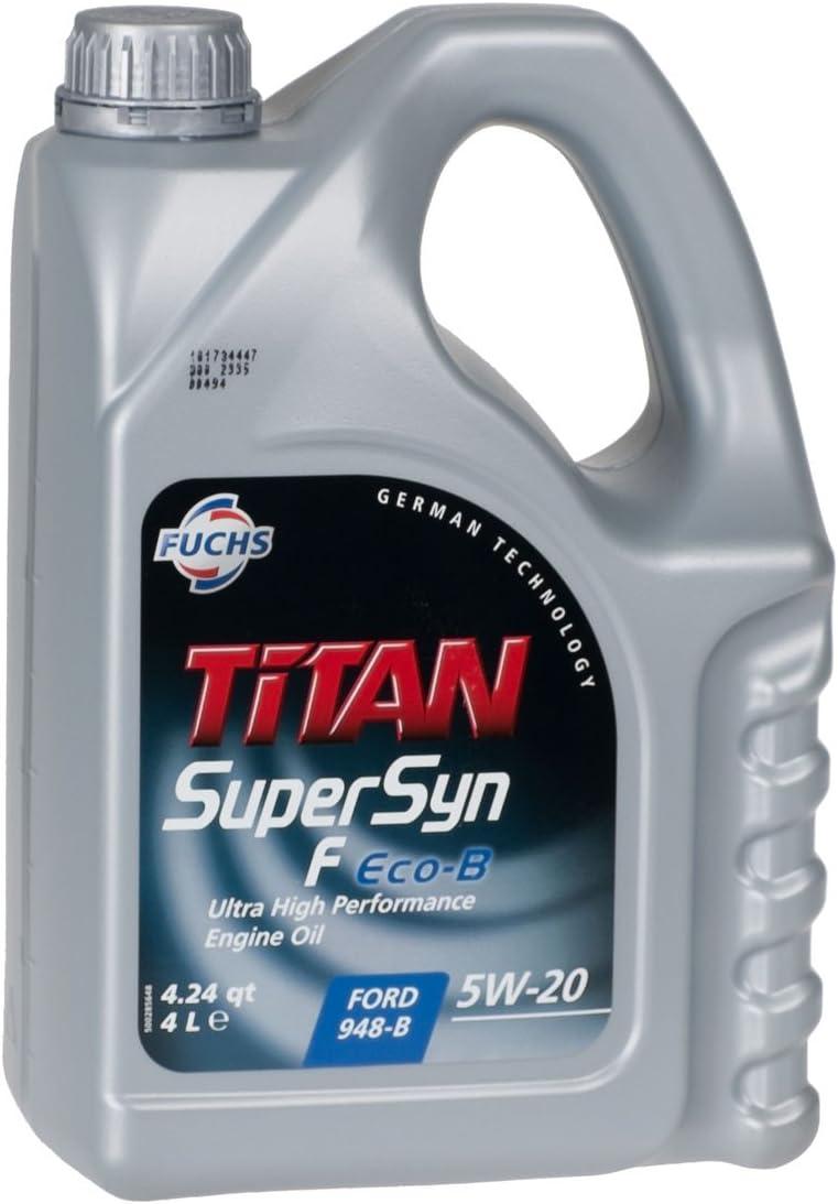 Fuchs 600892043 Motoröl Titan Supersyn F Eco B 5w 20 4l Auto