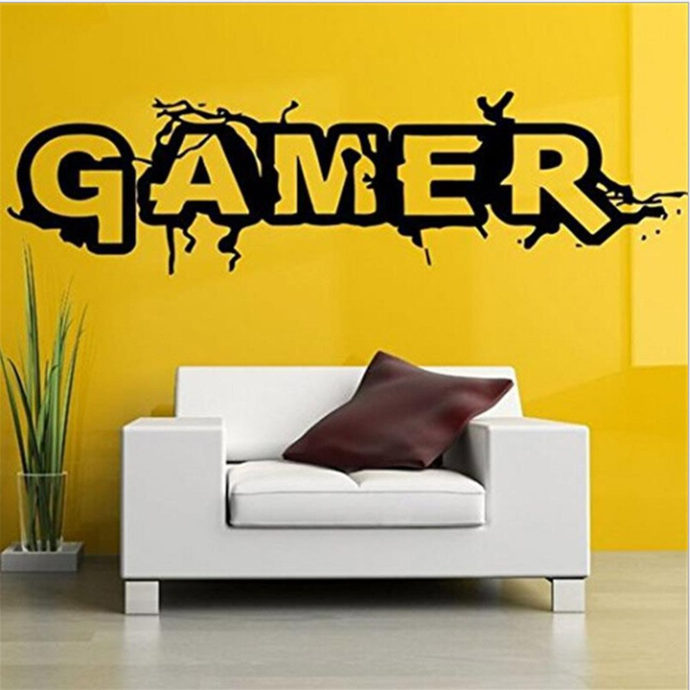 Auxsoul Gaming Quote Extreme Gamer Door/Wall art sticker/Decal Boys/Man Cave