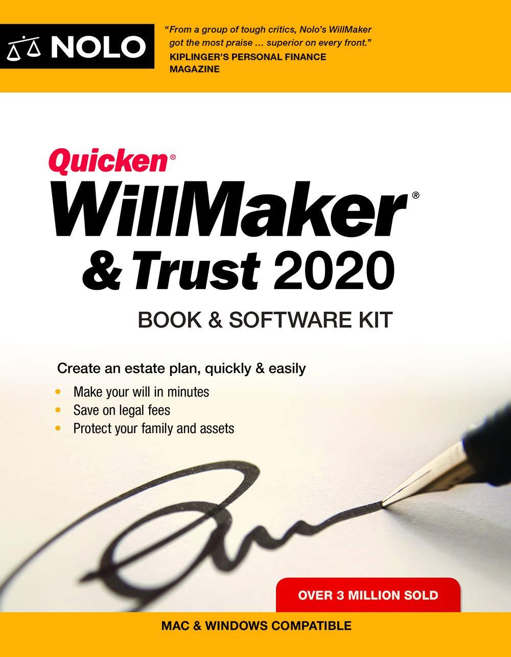 Quicken Willmaker & Trust 2020: Book & Software Kit by NOLO