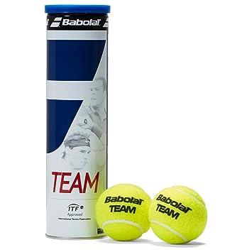 Babolat Tennisbälle Team 4er Dose Pelota de Tenis, Unisex Adulto, Amarillo, Talla Única: Amazon.es: Deportes y aire libre