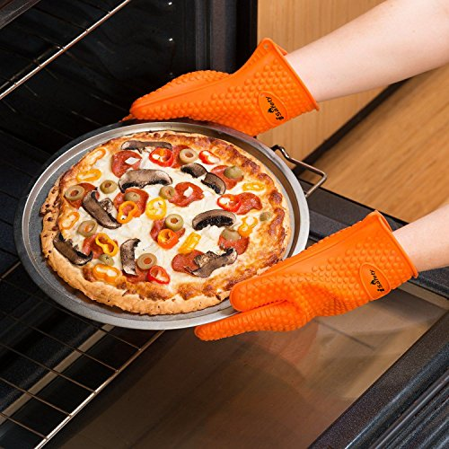 1 isafety bbq silicon cooking gloves 1 pair heat burn resistant best use for kitchen. Black Bedroom Furniture Sets. Home Design Ideas