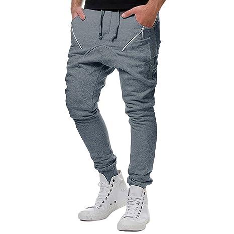 Pantaloni Tuta Uomo Topgrowth Casual Sport Hip Hop Autunno Patchwork  Cerniera Running Palestra Pantaloni da Jogger 3056faf2ce07