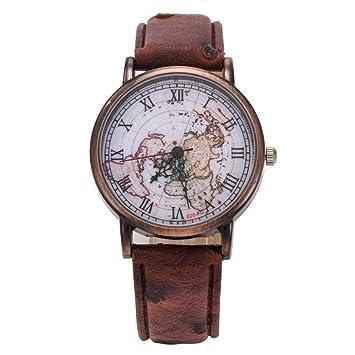 Longra Reloj Venta al por Mayor Reloj Retro Reloj Reloj Reloj(marrón): Amazon.es: Deportes y aire libre