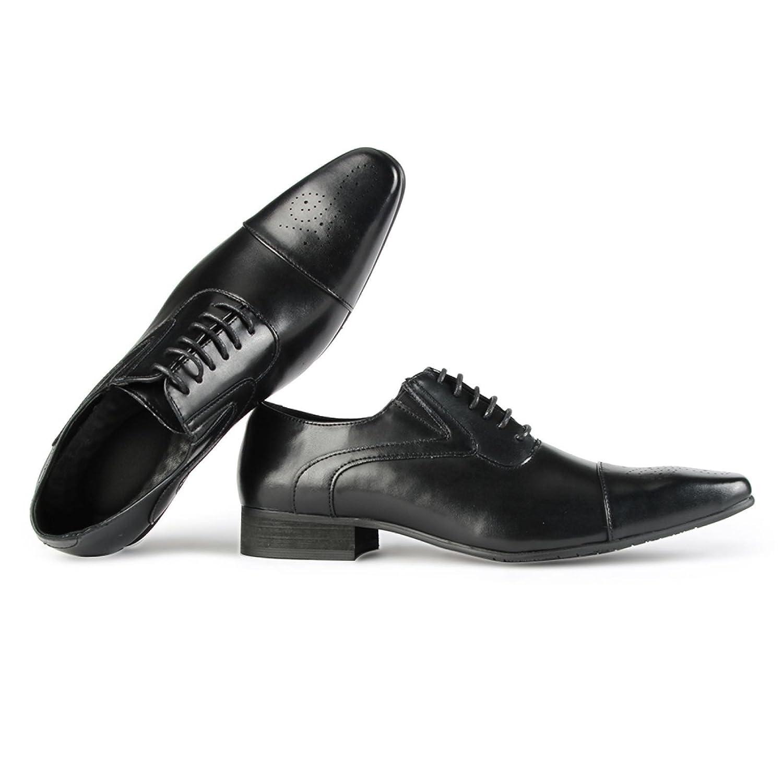 d5b7ef75ab10 Jumuland Men's Oxfords Classic Leather Dress Shoes Modern Round Cap Toe  Lace up Formal Business: Amazon.ca: Shoes & Handbags