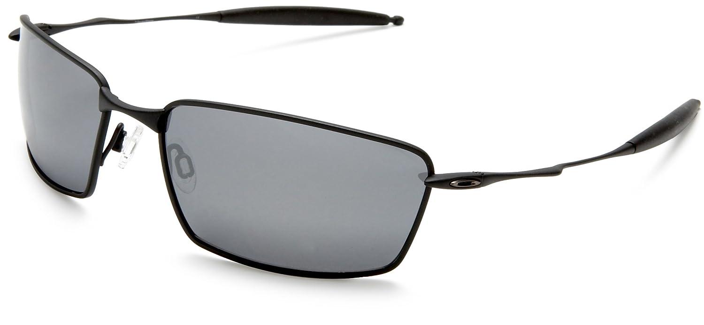 2bf403b1ad48 Amazon.com: Oakley Men's Titanium Square Whisker Polarized Sunglasses,Ti  Matte Black Frame/Black Lens,one size: Clothing